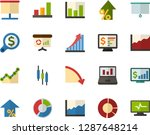 color flat icon set  ... | Shutterstock .eps vector #1287648214