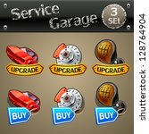 upgrade and buy parts icons for ... | Shutterstock .eps vector #128764904