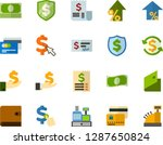 color flat icon set   credit... | Shutterstock .eps vector #1287650824