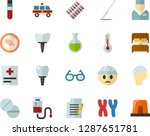 color flat icon set   glasses... | Shutterstock .eps vector #1287651781