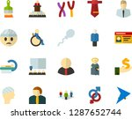 color flat icon set   angel... | Shutterstock .eps vector #1287652744