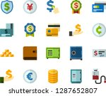 color flat icon set   safe flat ... | Shutterstock .eps vector #1287652807