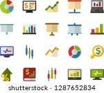 color flat icon set  ... | Shutterstock .eps vector #1287652834