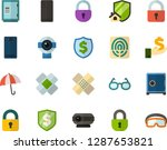 color flat icon set   glasses... | Shutterstock .eps vector #1287653821