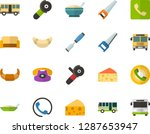 color flat icon set   cheese... | Shutterstock .eps vector #1287653947
