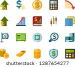 color flat icon set  ... | Shutterstock .eps vector #1287654277