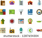 color flat icon set  ... | Shutterstock .eps vector #1287654304