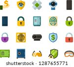 color flat icon set   lock flat ... | Shutterstock .eps vector #1287655771