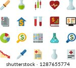 color flat icon set   flask... | Shutterstock .eps vector #1287655774
