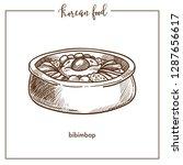exotic tasty bibimbap dish from ... | Shutterstock .eps vector #1287656617