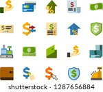 color flat icon set   credit... | Shutterstock .eps vector #1287656884