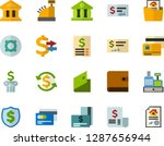 color flat icon set   credit... | Shutterstock .eps vector #1287656944