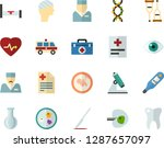 color flat icon set   medicine... | Shutterstock .eps vector #1287657097