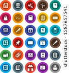 white solid icon set  toilet... | Shutterstock .eps vector #1287657541