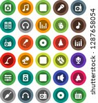 white solid icon set  bell...   Shutterstock .eps vector #1287658054