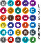white solid icon set  cleaner... | Shutterstock .eps vector #1287658294