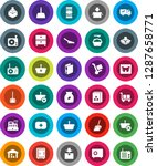 white solid icon set  scoop... | Shutterstock .eps vector #1287658771