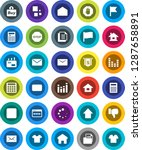 white solid icon set ...   Shutterstock .eps vector #1287658891