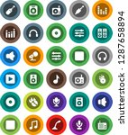 white solid icon set  music...   Shutterstock .eps vector #1287658894