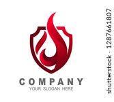 fire shield logo design element.... | Shutterstock .eps vector #1287661807