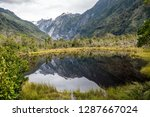 peters pool  a small kettle... | Shutterstock . vector #1287667024