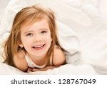 Adorable Little Girl Awaked Up...