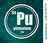 plutonium chemical element.... | Shutterstock .eps vector #1287670774