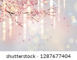 vector background with plum or... | Shutterstock .eps vector #1287677404