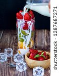 mix fruits in glass for...
