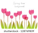 Spring Background With Place...