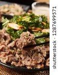 roast beef on a plate | Shutterstock . vector #1287699571