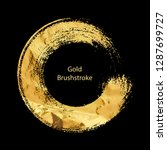 gold round design templates for ... | Shutterstock .eps vector #1287699727