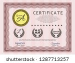 red certificate template or... | Shutterstock .eps vector #1287713257