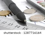 financial background with money ... | Shutterstock . vector #1287716164