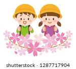 first year elementary school... | Shutterstock .eps vector #1287717904