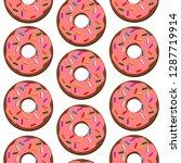 donut seamless pattern   Shutterstock .eps vector #1287719914