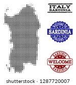 welcome combination of halftone ... | Shutterstock .eps vector #1287720007