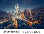 city of kuala lumpur  malaysia... | Shutterstock . vector #1287731371
