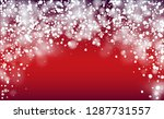 realistic snow background.... | Shutterstock .eps vector #1287731557