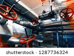 equipment  cables and piping as ... | Shutterstock . vector #1287736324