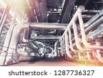 different size and shaped pipes ... | Shutterstock . vector #1287736327