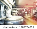 equipment  cables and piping as ... | Shutterstock . vector #1287736351