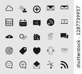 social media and network icon... | Shutterstock .eps vector #1287739957