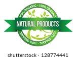 pure nature green sign... | Shutterstock . vector #128774441
