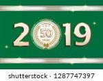 50 years anniversary  birthday  ... | Shutterstock .eps vector #1287747397