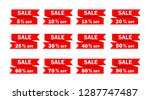 set of red sale icon banners in ... | Shutterstock .eps vector #1287747487