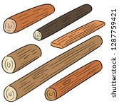 vector set of wooden timber | Shutterstock .eps vector #1287759421