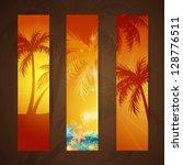 vector illustration of summer... | Shutterstock .eps vector #128776511