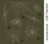 collection of spiders and webs | Shutterstock .eps vector #1287766504