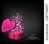 black composition with a pink... | Shutterstock .eps vector #1287768697